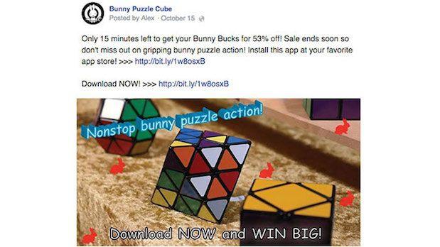 Primer oglasa na FB koji ce biti blokiran